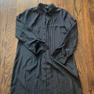 Club Monaco black button down dress